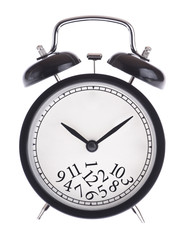 Alarm clock with a bunch of numbers on the dial