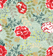 Retro floral seamless background,pattern
