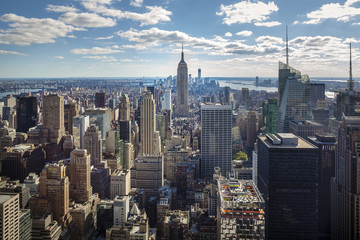 Panorama of New York City: midtown and downtown
