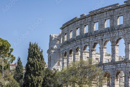Detailansicht des römischen Amphitheaters in Pula