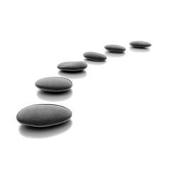 Zen Steine auf weißem Hintergrund