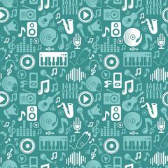 Vector music seamless pattern