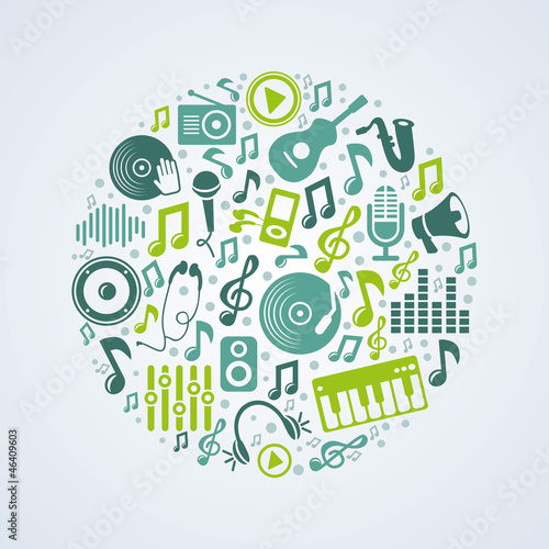 Vector music concept