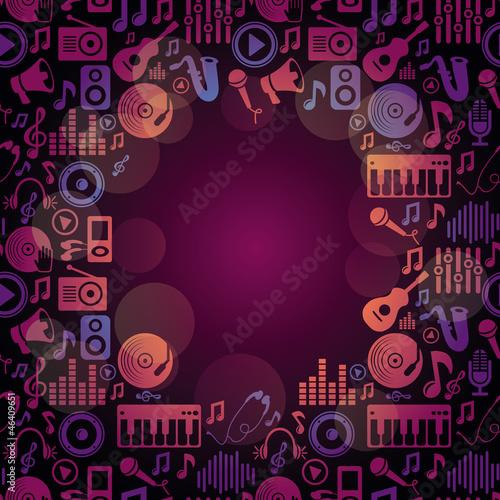 Vector music frame