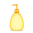 bottle of liquid soap isolated