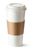 Take-out coffee with cup holder