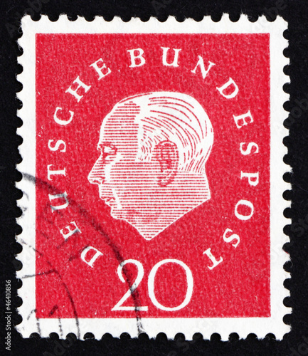 Postage stamp Germany 1959 Theodor Heuss
