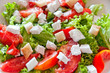 Salad with tomatoes and feta cheese