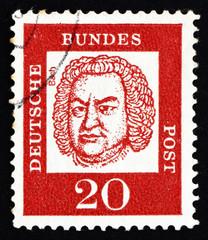 Postage stamp Germany 1963 Johann Sebastian Bach, Composer