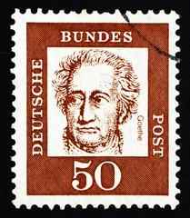 Postage stamp Germany 1961 Johann Wolfgang von Goethe