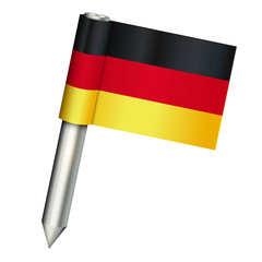 detailed germany vector pin