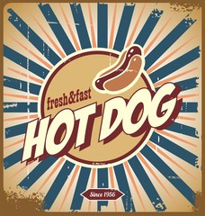 Hot dog vintage sign