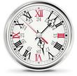 Clock icon in retro style
