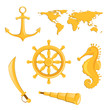 Vector Illustration of Nautical Elements