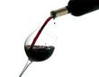Vino nero versato