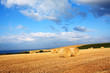 Beautiful landscape with hay bales, Scotland