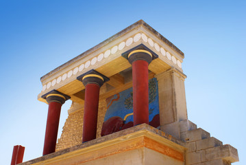 Ancient Knossos palace at Crete island in Greece.