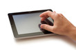 hand with digital tablet