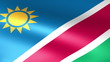 Namibia Flag Waving