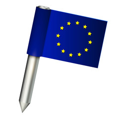 eu vector flag pin