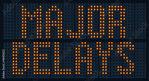 Urban traffic congestion sign saying Major Delays