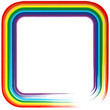 Art rainbow frame abstract vector background 4