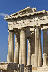Parthenon temple at the Acropolis of Athens in Greece