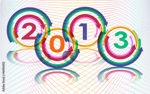 New year 2013, vector
