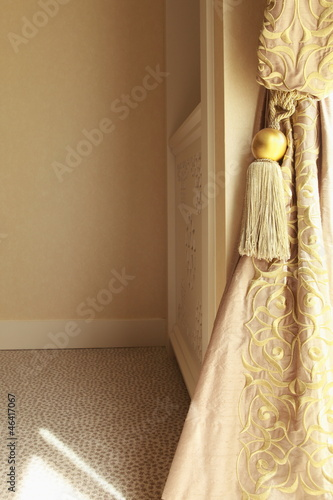Curtain drapes and tassel