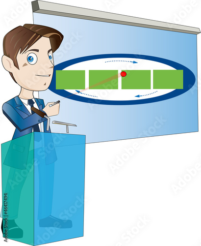 office worker for use in presentations