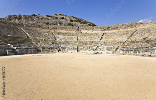 Filippois ancient theater and town at North Greece