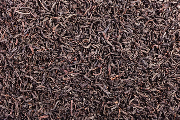 Black tea loose dried tea leaves, marco