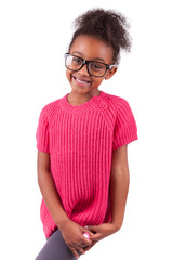 Cute young African American girl