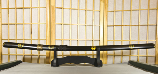 Traditional Japanese samurai sword