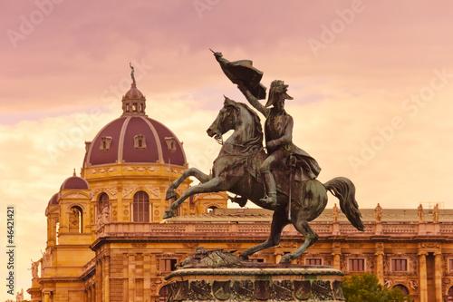 Papiers peints Statue Erzherzog Karl memorial - Vienna Austria