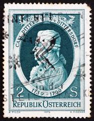 Postage stamp Austria 1974 Carl Ditters von Dittersdorf, Compose