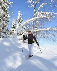 Wanderung in winterliche Landschaft