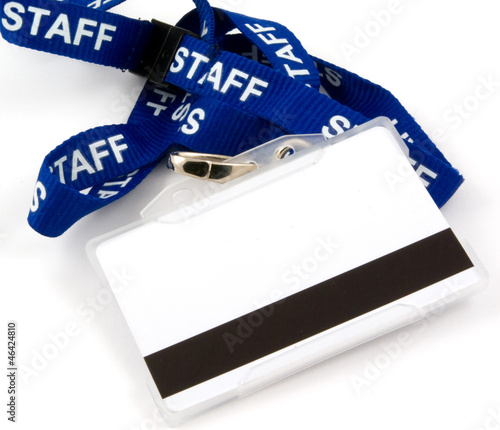 Staff swipe card