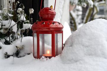 Garten im Winter Schnee Weihnachten