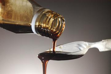 cough medicine in horizontal frame