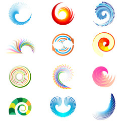 abstract swirl shapes, icons