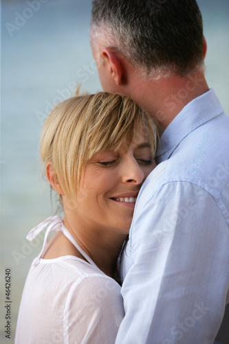 couple by seashore