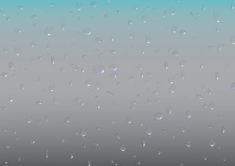 Water drops on aluminium