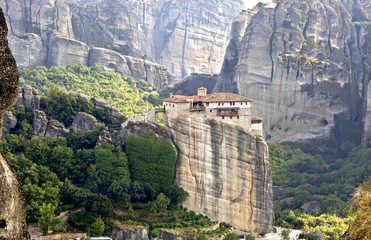 Meteora monasteries near Kalambaka in Greece