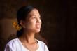 Myanmar girl looking up