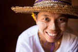 Smiling Myanmar girl