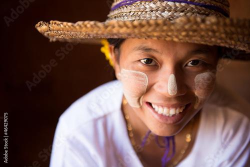 Smiling Myanmar girl