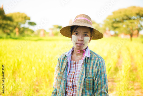 Mature Burmese farmer