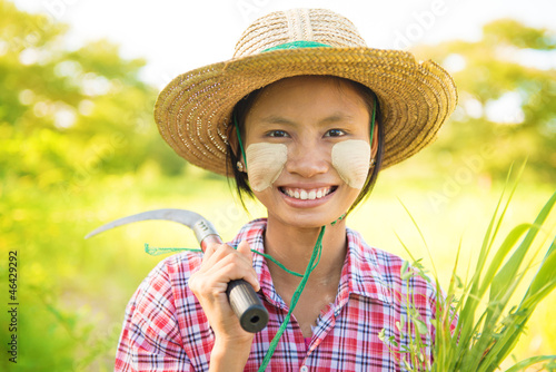 Pretty Burmese farmer