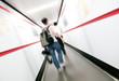 Airport corridor and passengers